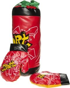 298ea2661fa LG-Imports bokszak met handschoenen junior rood