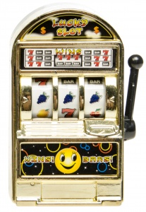 LG-Imports Casino Spielautomat 8 cm Gold