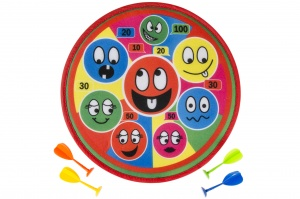 LG-Imports dartbord set laughing face klittenband