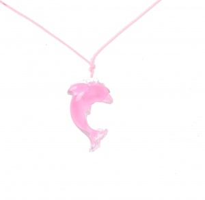 LG-Imports Dolphin necklace soft-pink