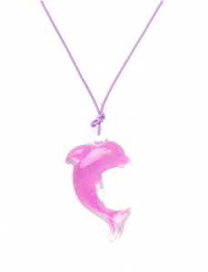 LG-Imports Dolphin necklace purple