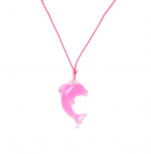 LG-Imports Dolphin necklace pink