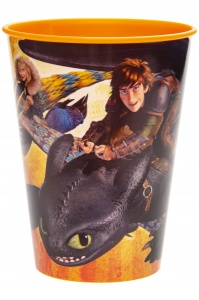 LG-Imports drinking cup how to tame a dragon 260 ml yellow