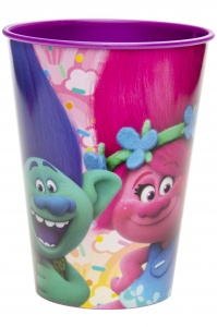 LG-Imports drinking cup Trolls 260 ml pink