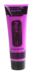 LG-Imports glow in the dark body paint paars 2 ml