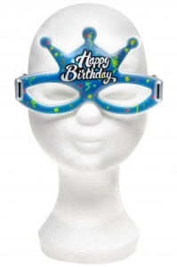 LG-Imports glowbril Happy Birthday blauw