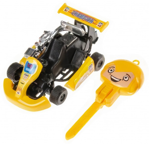 LG-Imports go-kart Launchboys 9 cm yellow 2-piece