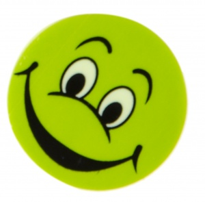LG-Imports Eraser with laugh face green 4 pieces