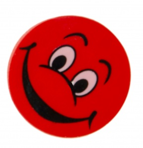 LG-Imports Eraser with smiling face red 4 pieces