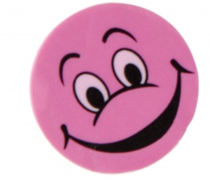 LG-Imports Eraser with laugh face pink 4 pieces