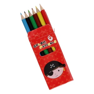 LG-Imports colour pencils pirate 9 cm 6 pieces