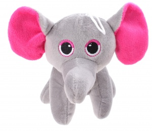 LG-Imports cuddly elephant with loop 15 cm grey/pink