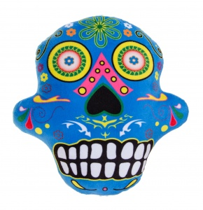LG-Imports kussen Day Of Dead 28 cm blauw