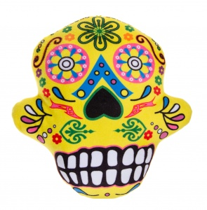 LG-Imports kussen Day Of Dead 28 cm geel