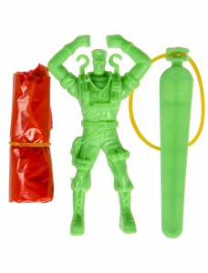 LG-Imports parachuting jumper soldier green 9 cm
