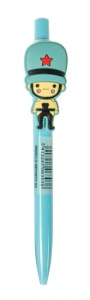 LG-Imports pen with puppet 14 cm light blue