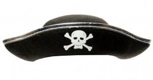 LG-Imports Pirate hat junior 33 cm black/silver