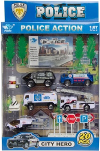 LG-Imports politieset 20-delig o.a. Swat-bus
