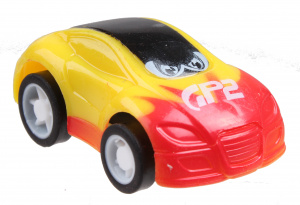 LG-Imports racing car P2 boys 5 cm pull-back yellow/red
