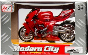 LG-Imports racemotor 'Modern City' 9 cm rood