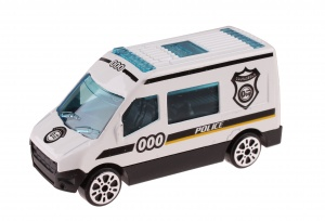LG-Imports schaalmodel Patrol Police politiebus 7 cm wit