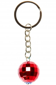 LG-Imports key ring disco ball 2 cm red