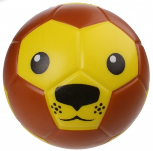 LG-Imports toy lion face 15 cm brown/yellow