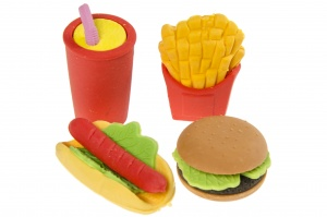 LG-Imports toy food Fast food 4-piece