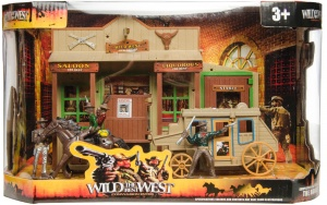 LG-Imports speelset Wild the best West saloon/cowboys/koets 7-delig
