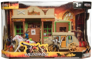LG-Imports speelset Wild the best West saloon/koets/cowboys 7-delig
