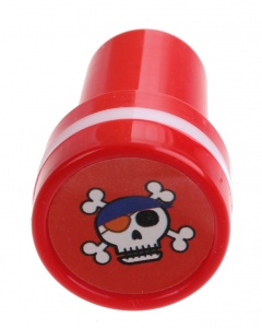 LG-Imports skull stamp red/white