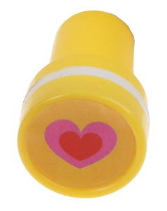 LG-Imports stamp heart yellow/white