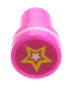 LG-Imports stempel ster roze/wit