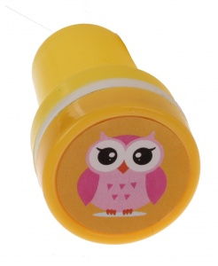 LG-Imports stempel uil geel/wit