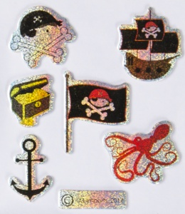 LG-Imports Stickers anchor/ flag 7 pieces