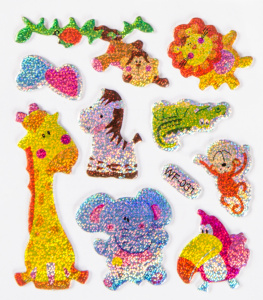 LG-Imports sticker sheet giraffe junior 7 x 11,5 cm 10-piece