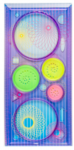 LG-Imports character set circles make 10 x 20,5 cm purple