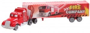 LG-Imports transporter die-cast 1 : 64  19 cm rood