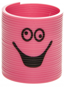 LG-Imports trapveer smiley junior 3,5 x 3 cm roze