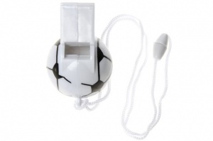 LG-Imports football whistle with cord black/white