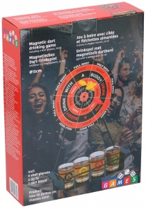 Lifetime Games drinking game Dartboard magnetic 25 ml 3-piece