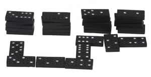 Lifetime Games Hout dominospel 28 stenen 35 mm zwart