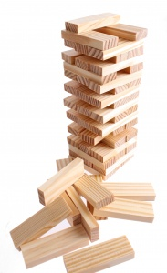 Lifetime Games stacking game wood 60-piece