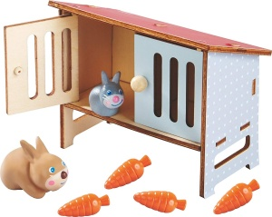 Little Friends rabbit cage Haasjunior 17 cm wood blank