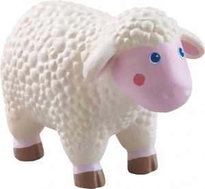 Little Friends poppenhuispop Schaap 8 cm junior PVC wit/roze