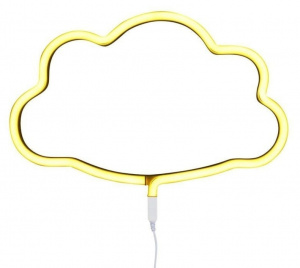 A Little Lovely Company lamp neon Wolk junior 38,5 cm PVC geel