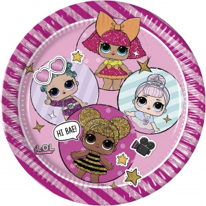 L.O.L. Surprise party plates 23 cm 8 pieces