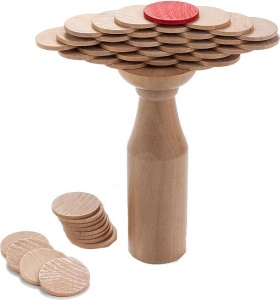 Longfield Games wooden balance game coins