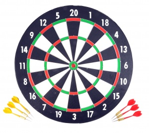 Longfield Games dartboard 43 cm with six darts