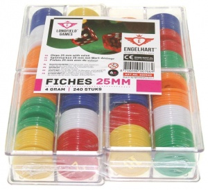 Longfield Games Pokerfiches 25 mm per 240 stuks